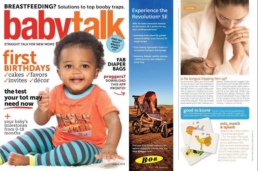 Baby Talk Magazine Feature
